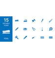 15 tool icons vector image vector image