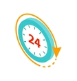 24 hours service icon isometric 3d style vector image