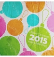 Abstract Christmas multicolored watercolor balls vector image
