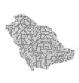abstract schematic map of saudi arabia from the vector image vector image