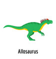 allosaurus icon flat style vector image vector image