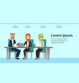 arab businesspeople talking working consultation vector image vector image