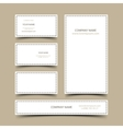 Blank business cards set vector image vector image