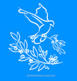 blue background for international day of peace vector image vector image
