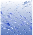 Blue background Water on glass vector image