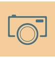 blue camera icon on orange background vector image vector image
