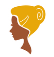 cameo woman silhouette vector image