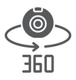 camera 360 glyph icon device and rotation vector image vector image