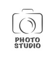 camera icon flat photo camera isolated vector image vector image