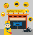 Car Mechanic and Garage Service vector image vector image