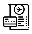 card for payment and check in duty free icon vector image vector image