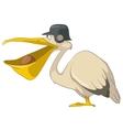 cartoon character pelican vector image