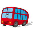 cartoon doubledecker vector image