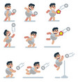 characters volleyball game flat icon man vector image