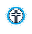 christian cross symbol christianity god religion vector image vector image