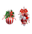christmas festive decoration from tree vector image vector image