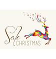 Christmas sale colorful reindeer vintage hang tag vector image vector image
