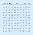 collection creative king and queen crowns vector image vector image