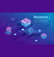 cryptocurrency and blockchain concept data vector image vector image