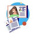 cv job candidates composition vector image