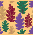 decor leaves pattern vector image vector image