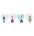 doctors and nurses concept design - group of vector image vector image
