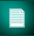 document icon on green background checklist icon vector image vector image