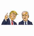 donald trump vs joe biden presidential election vector image vector image