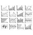 doodle finance graph eps 10 vector image vector image