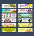 Easter greeting tag and egg hunt gift label set