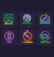 ecological eco icons set save vector image vector image