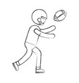 ethlete practicing american football avatar vector image vector image