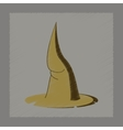 flat shading style icon witch hat vector image vector image