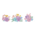 flower bouquet pastel wax flower forget me not vector image