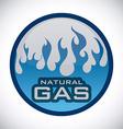 gas natural design vector image