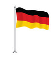 germany flag isolated wave flag germany country vector image