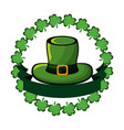green hat accessory st patrick with clovers and vector image vector image