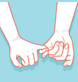 hand drawn to pinky promise vector image vector image