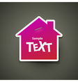 House icon sticker vector image vector image