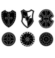 Icon set of ancient medieval shield vector image vector image