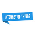 internet things speech bubble internet of vector image vector image