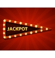 Jackpot retro banners with glowing lamps vector image