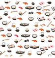 Japanese food seamless pattern vector image vector image