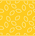 lemon pattern print yellow lemon pattern vector image vector image