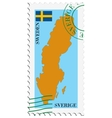 mail to-from Sweden vector image vector image