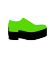 men shoes sign green 3d icon with black vector image