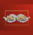 modern mustache santa icon on red vector image vector image
