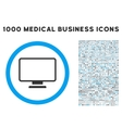 Monitor Icon with 1000 Medical Business Symbols vector image vector image