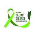 national celiac disease awareness month vector image
