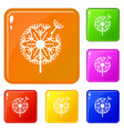 natural plant dandelion icons set color vector image vector image
